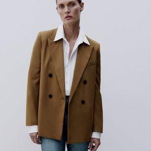 NWOT Zara  Double Breasted Blazer
